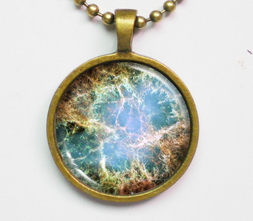 Constellation Necklace - Crab Nebula Image Necklace ...